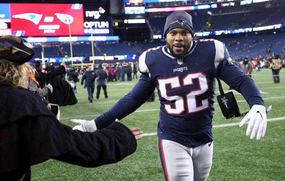 Elandon Roberts is a Patriots team captain in his fourth season after being drafted out of UH. Photo: Jim Rogash/Getty Images