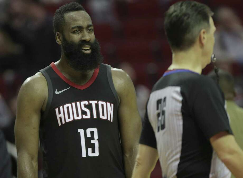 Rockets guard James Harden has been vocal about refs this season. Photo: Elizabeth Conley / Houston Chronicle / © 2017 Houston Chronicle
