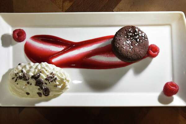 Flourless chocolate cake at Le Bistro at Spa Mirbeau at Crossgates Mall Friday Jan. 26, 2018 in Guilderland, NY.  (John Carl D'Annibale/Times Union)