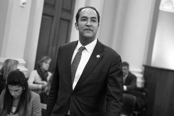 Rep. Will Hurd, R-Texas, attends a House Intelligence Committee hearing in Longworth Building on Russian interference with the 2016 election featuring testimony by FBI Director James Comey and Director of the National Security Agency Adm. Mike Rogers, March 20, 2017. (Tom Williams/Congressional Quarterly/Newscom/Zuma Press/TNS)