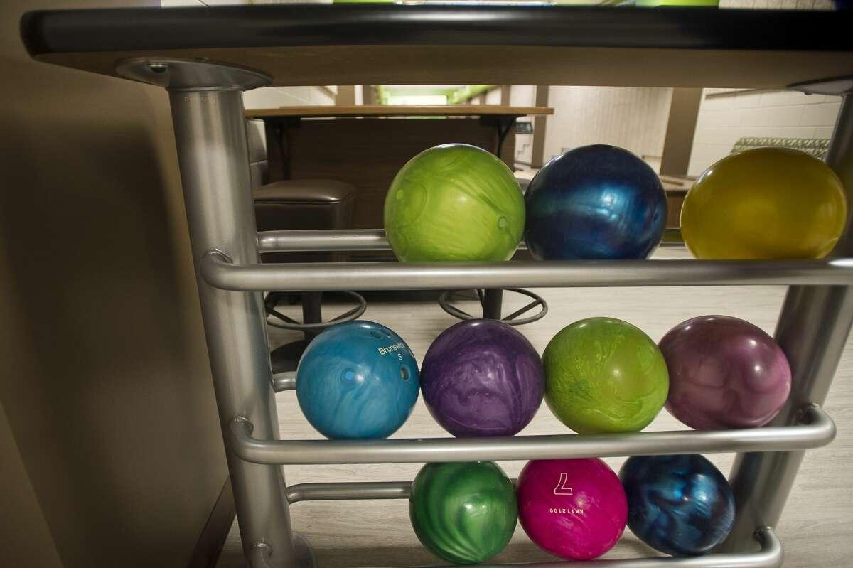 A brand new bowling alley is seen inside the West Midland Family Center on Thursday, Feb. 1, 2018. (Katy Kildee/kkildee@mdn.net)