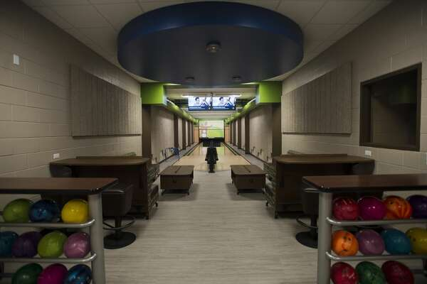 A brand new bowling alley is seen inside the West Midland Family Center on Thursday, Feb. 1, 2018. (Katy Kildee/kkildee@mdn.net)