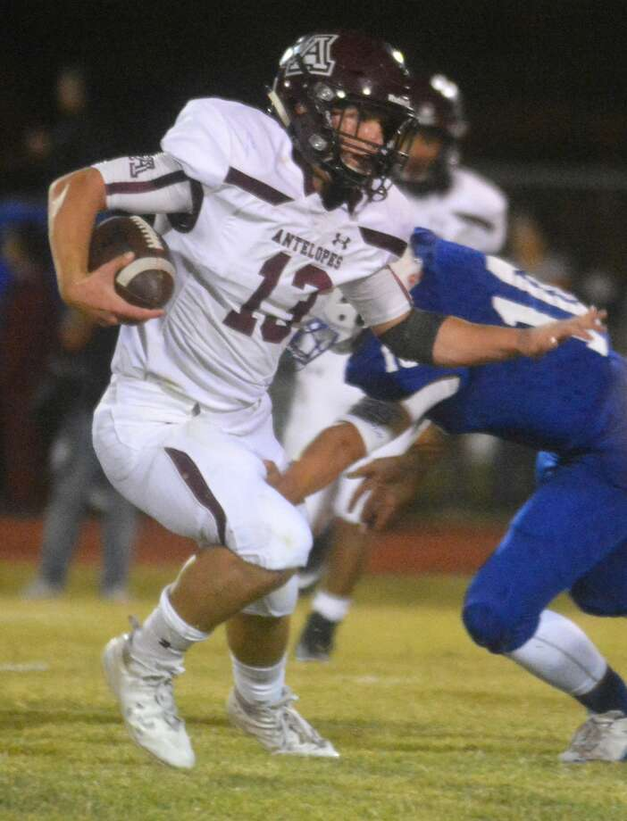 Abernathy quarterback Bryson Daily runs for yardage in a game last season. Abernathy will move up from Class 2A to Class 3A, Division II under the new UIL realignment. Photo: Skip Leon/Plainview Herald