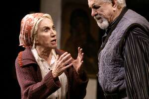 """MOTHER21_108_kk.jpg Olympia Dukakis (Vassa) and her husband Louis Zorich (Mikhail)  in """"A Mother,"""" Constance Congdon's adaptation of Gorky's """"Vassa Zheleznova"""" at A.C.T.    Chronicle photo by Kim Komenich in San Francisco.  &quo;Galumpha,&quo; at San Francisco's Project Artaud Theater, mixes acrobatics, visual effects and comedy.       &quo;Galumpha,&quo; at San Francisco's Project Artaud Theater, mixes acrobatics, visual effects and comedy."""