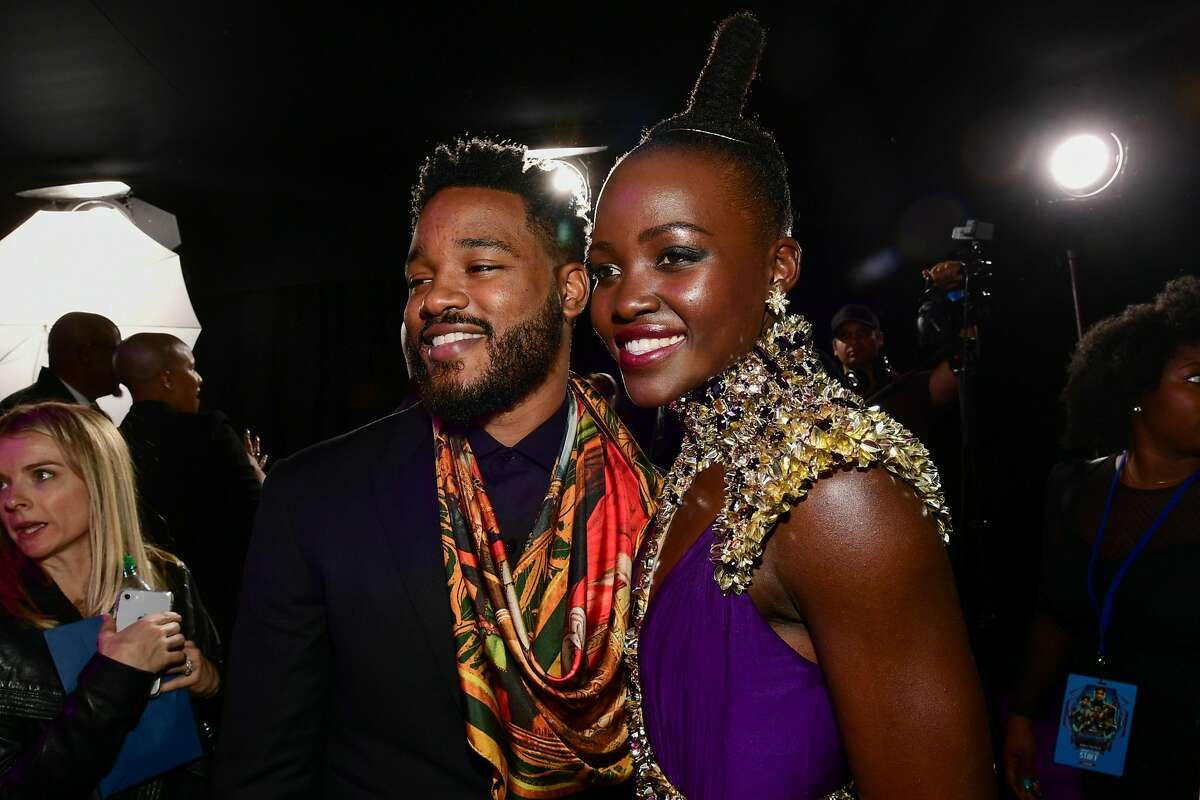 """HOLLYWOOD, CA - JANUARY 29: Ryan Coogler and Lupita Nyong'o attend the premiere Of Disney and Marvel's """"Black Panther"""" at Dolby Theatre on January 29, 2018 in Hollywood, California. (Photo by Emma McIntyre/Getty Images)"""