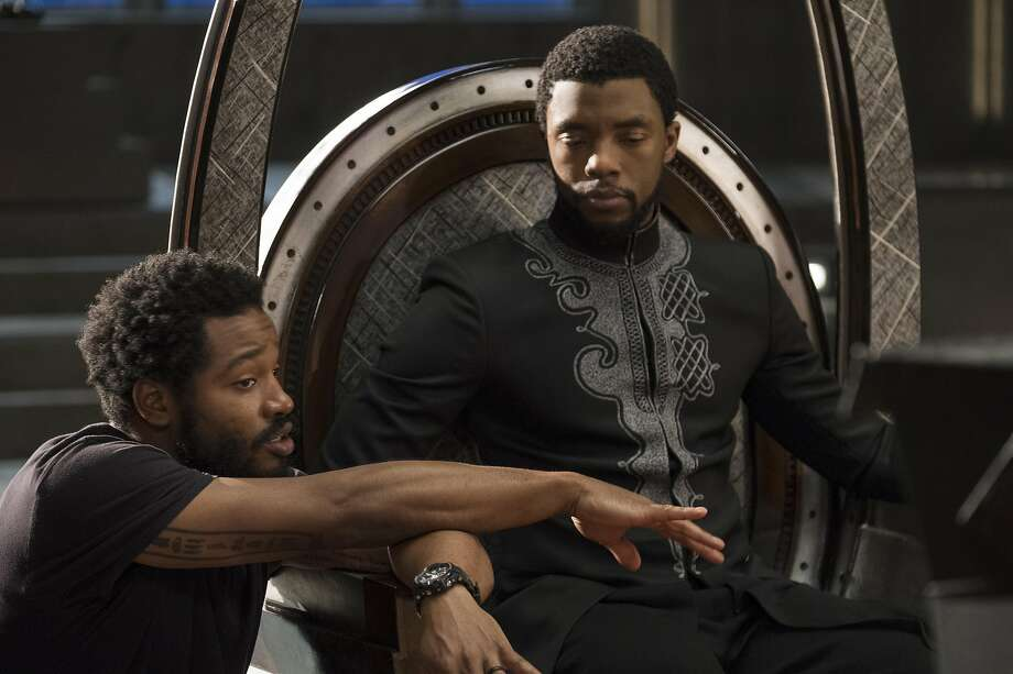 Director Ryan Coogler and star Chadwick Boseman in 'Black Panther' Photo: Marvel