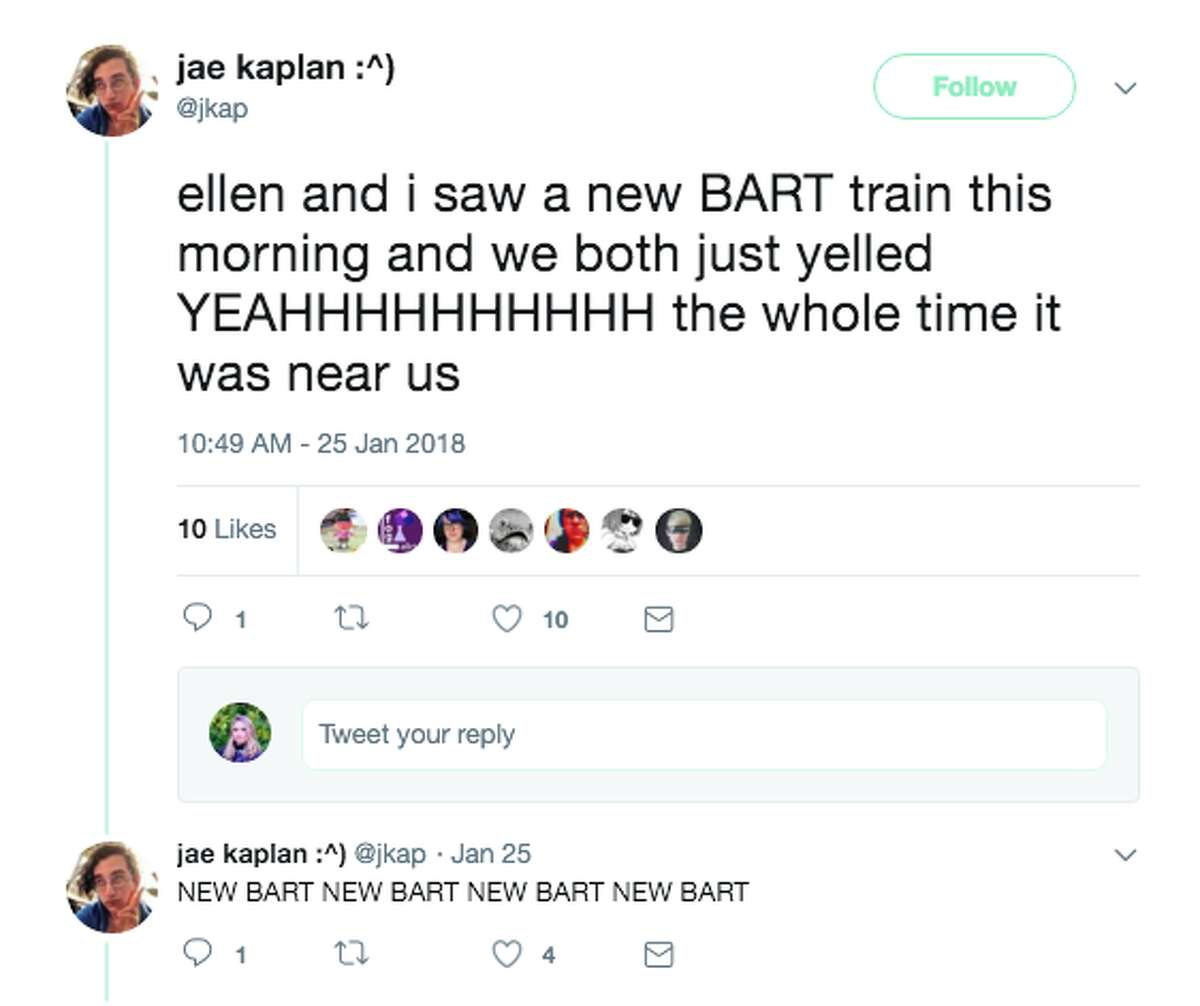 People are ecstatic about the new fleet of BART trains that hit the tracks in January.