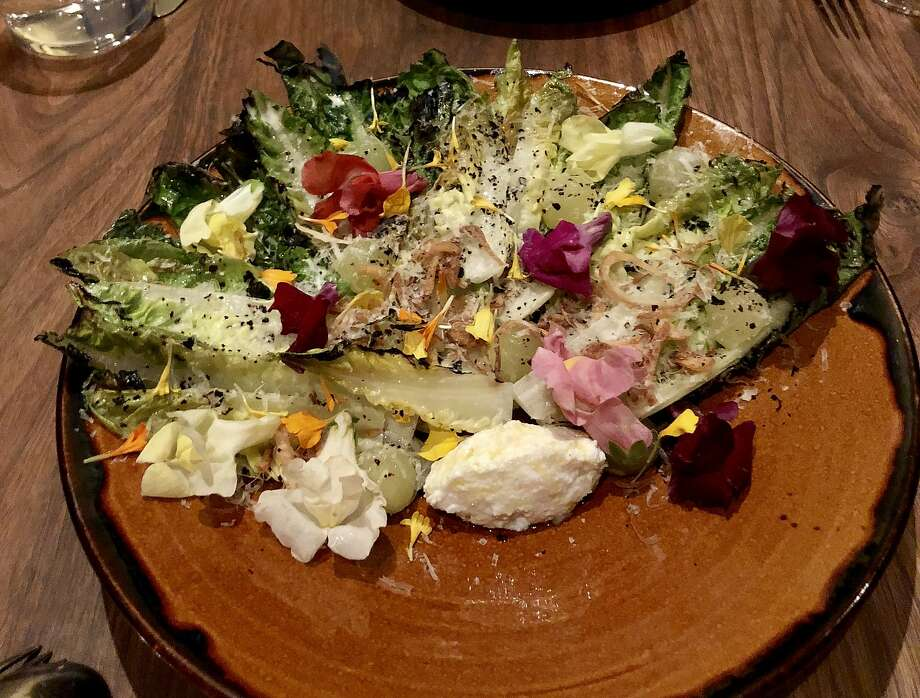 Gem salad with cheese, apple and urfa ash at Mourad. Photo: Michael Bauer, The Chronicle