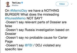 Democrats took to Twitter to criticize President Trump for releasing a memo alleging surveillance abuses by the FBI.