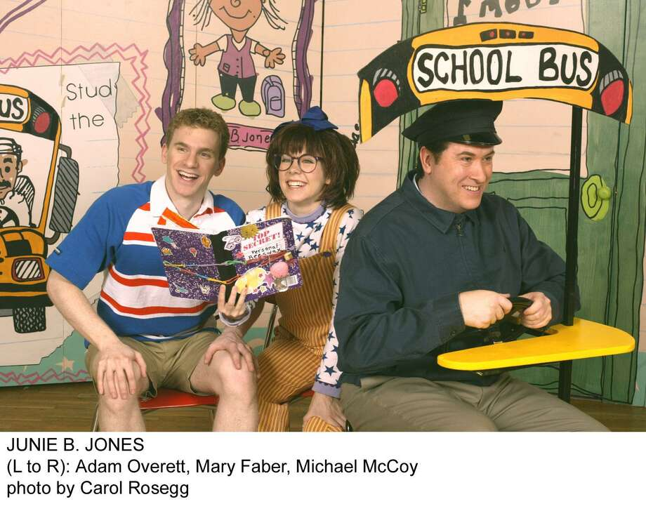 """Junie B. Jones, The Musical"" comes to Westport Country Playhouse for two performances on Feb. 11. From left, are Adam Overett, Mary Faber as Junie and Michael McCoy. Photo: Carol Rosegg / Contributed Photo"