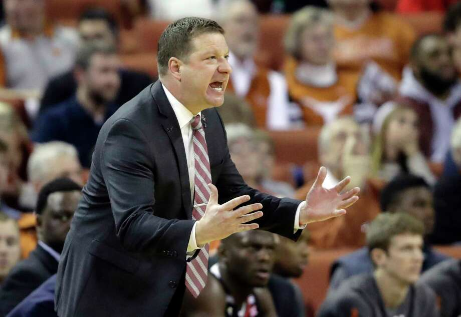 FILE - In this Jan. 17, 2018, file photo, Texas Tech head Chris Beard calls to his players during the second half of an NCAA college basketball game against Texas, Wednesday, Jan. 17, 2018, in Austin, Texas. After Tubby Smith's sudden departure from the Red Raiders nearly two years ago, Beard was considered a perfect fit. They are now in the Top 10 and near the top of the Big 12 Conference standings.  (AP Photo/Eric Gay, File) Photo: Eric Gay, STF / Copyright 2018 The Associated Press. All rights reserved.