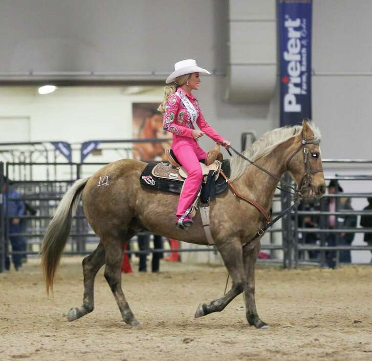 Miss Rodeo Texas rides at Miss Rodeo America, winning the coveted horsemanship title. She was the first Miss Rodeo Texas since 1980 to win this award, and she walked away with first runner up, the speech award, written test award, achievement award and the scrapbook cover award.
