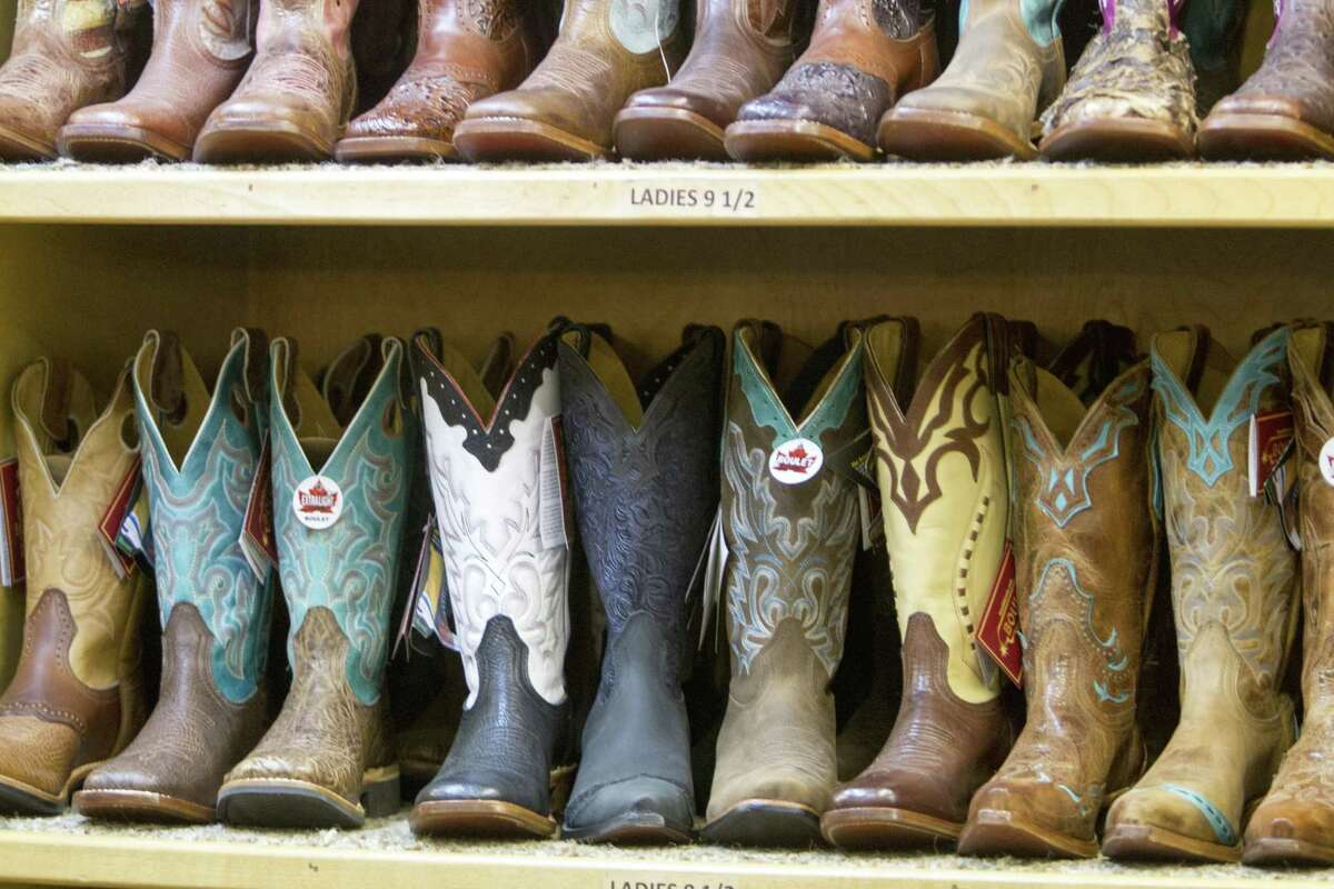 If you find yourself at the rodeo without a stylish or comfy pair of boots, vendors in the shopping barns can fix you up.