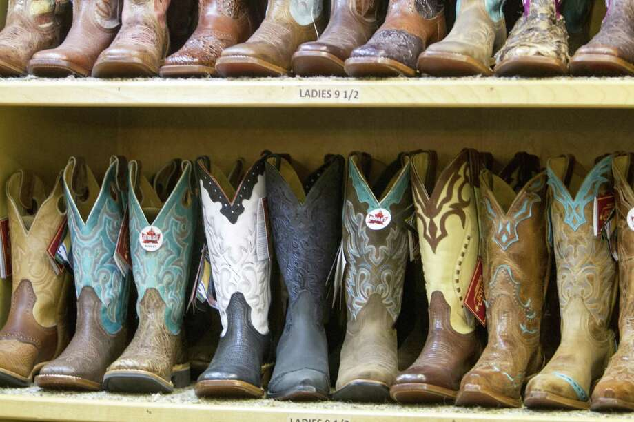 If you find yourself at the rodeo without a stylish or comfy pair of boots, vendors in the shopping barns can fix you up. Photo: Courtesy San Antonio Stock Show & Rodeo
