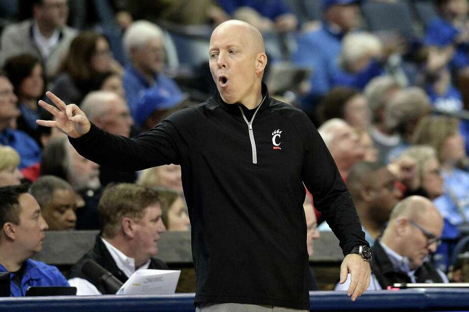 Coach Mick Cronin and Cincinnati take on UConn Saturday in Storrs. Photo: Brandon Dill / Associated Press / FR171250 AP