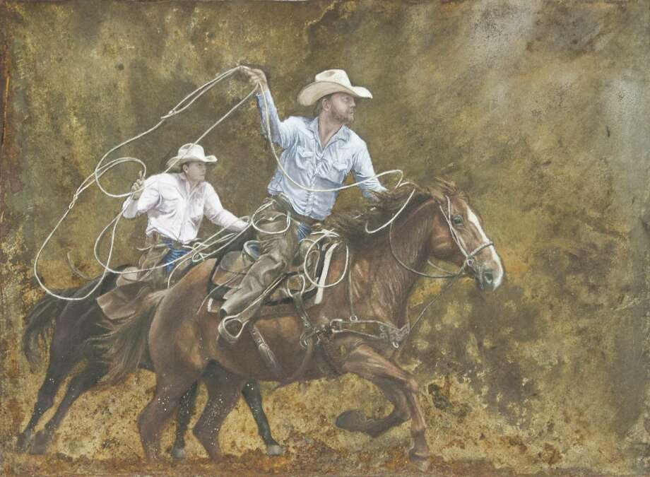 """Rusty Ride,"" which was created by Victoria West High School student Sana Saif, was named the Grand Champion in the San Antonio Stock Show and Rodeo's Student Western Art Contest. In addition to be auctioned off, the piece will be featured on the cover of the rodeo's souvenir programs. Photo: Courtesy Student Western Art Contest"