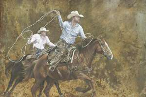 """Rusty Ride,"" which was created by Victoria West High School student Sana Saif, was named the Grand Champion in the San Antonio Stock Show and Rodeo's Student Western Art Contest. In addition to be auctioned off, the piece will be featured on the cover of the rodeo's souvenir programs."