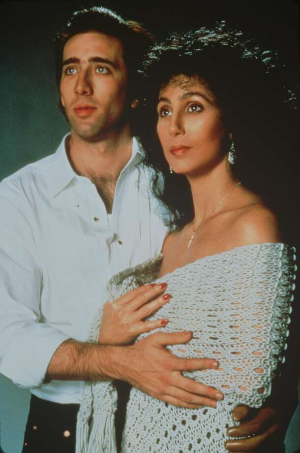 "``MOONSTRUCK'' - Nicolas Cage and Cher.  TNT New Classics New Year's Weekend ""Moonstruck.""  HOUCHRON CAPTION (12/29/2000):  ""TNT New Classics New Year's Weekend,"" 72 hours of films, opens with ""Moonstruck"" (1987), starring Nicolas Cage and Cher, at 7 tonight. Photo: MGM C2000"
