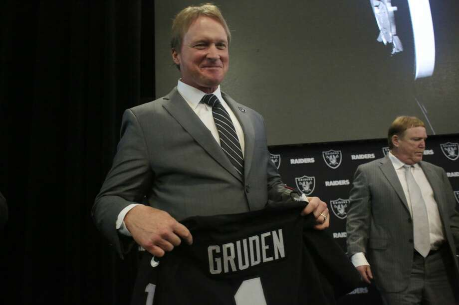 Jon Gruden's return to Oakland will have Raiders fans hyped up, but does he still have the coaching chops after being away for nine seasons? Photo: Lea Suzuki/The Chronicle