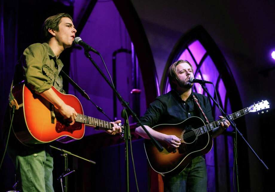 "The Meadows Brothers -- brothers Ian and Dustin Meadows from Chester -- will perform Friday night, Feb. 2, 2018 at CT Folk's ""Folk Fridays"" music series in the First Presbyterian Church Hall, 704 Whitney Ave. in New Haven. Showtime is 7:30 p.m. Tickets are $15 in advance on the CT Folk web site, $20 at the door, or $10 for children and students. Tickets are available at the advance price until 3 p.m. on the day of the show. Photo: Contributed Photo / Meadows Brothers / Denise Maccaferri Photography"