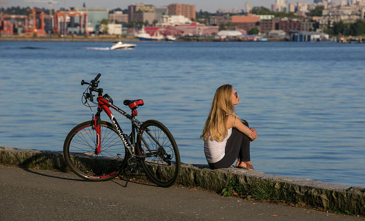 You get to stop and enjoy the scenery Not all of Seattle's bike trails are epic, but it's a whole lot easier to stop and smell the roses.