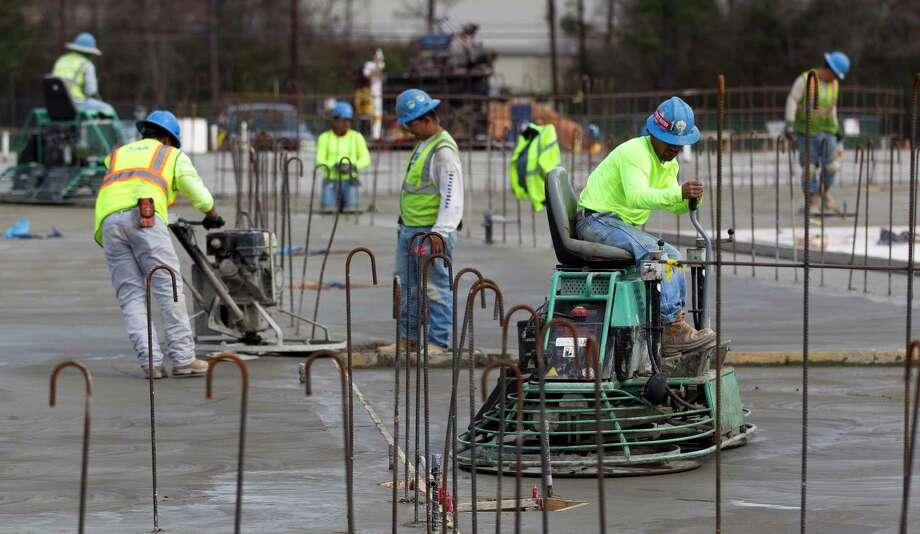 Work continues on the slab of Willis High School's new auditorium, Thursday, Jan. 1, 2018, in Willis. Photo: Jason Fochtman, Staff Photographer / © 2018 Houston Chronicle