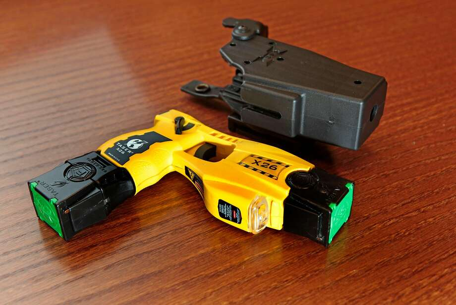 Taser gun and holster. Photo: Lance Iversen, The Chronicle