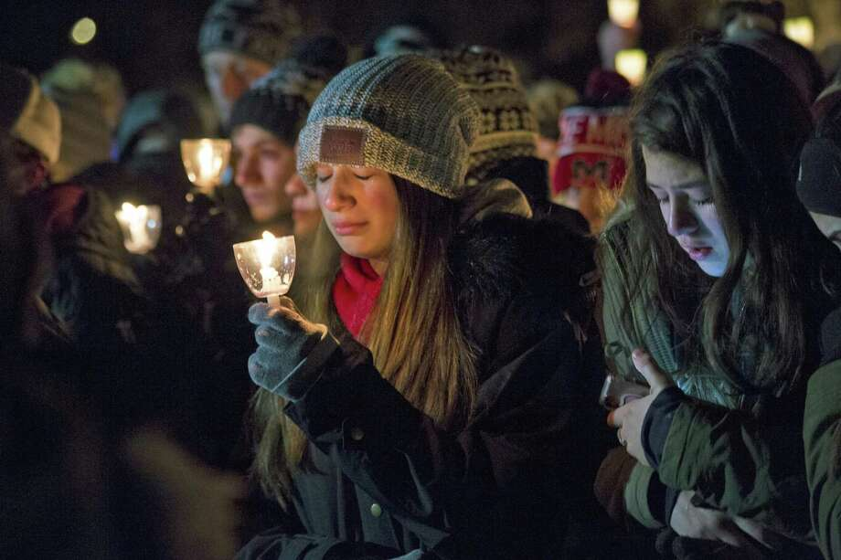 A candlelight vigil was held Friday for Guilford teen Ethan Song, who was died earlier this week after suffering a gunshot wound. Photo: Derek Torrellas / For Hearst Connecticut Media