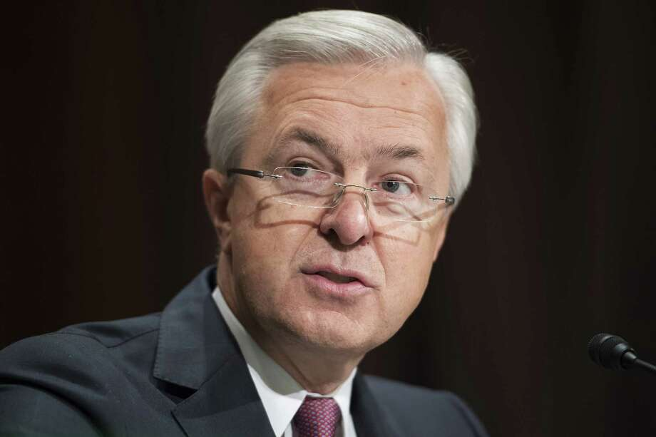 Wells Fargo CEO John Stumpf testifies about the company opening unauthorized accounts under customers' names at a Senate Banking, Housing and Urban Affairs hearing on Tuesday, Sept. 20, 2016 in Washington, D.C. (Tom Williams/CQ Roll Call/Newscom/Zuma Press/TNS) Photo: Tom Williams/CQ Roll Call/Newsco, MBR / Zuma Press