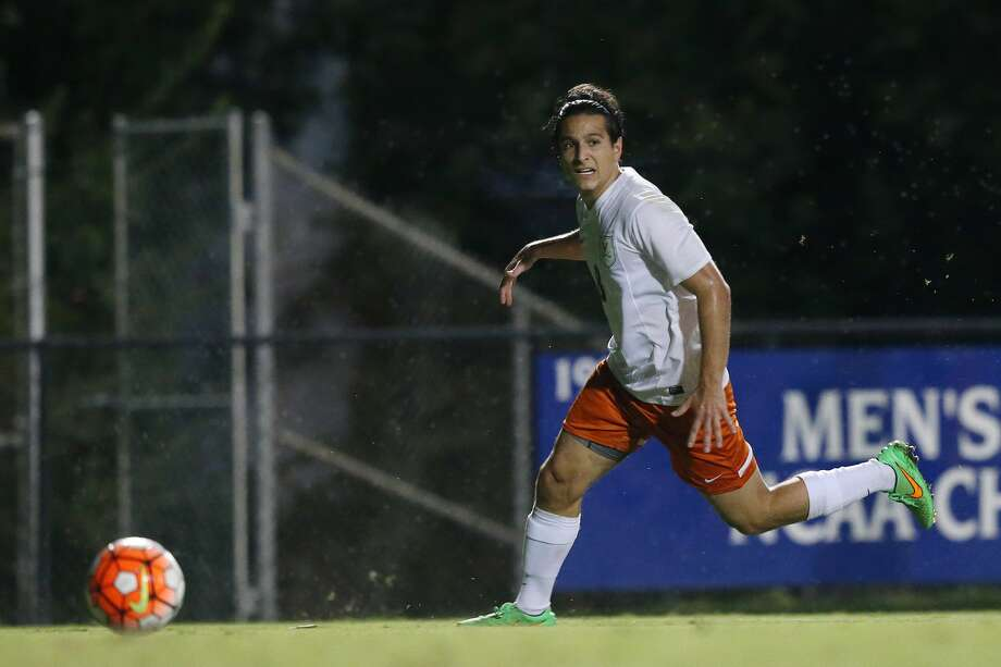 11 September 2015: Virginia's Pablo Aguilar (GUA). The Duke University Blue Devils hosted the University of Virginia Cavaliers at Koskinen Stadium in Durham, NC in a 2015 NCAA Division I Men's Soccer match. The game ended in a 2-2 tie after overtime. (Photo by Andy Mead/Icon Sportswire/Corbis via Getty Images) Photo: Icon Sports Wire/Corbis Via Getty Images