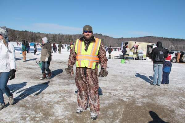 The 12th annual Connecticut Department of Energy and Environmental Protection's No Child Left Inside free Winter Festival was held Saturday, Feb. 3, 2018 at Burr Pond State Park in Torrington. Activities planned for the day included ice fishing, a fish fry, snowshoeing, ice sculpting, snow play, wildlife tracks, winter hikes and ice safety rescue demonstrations by the Torrington Fire Department, LL Bean and BASS Pro demos. Visits from Resources in Search and Rescue and the Hartford Wolfpack mascot, winter games, a marshmallow roast, bonfire and storytelling.