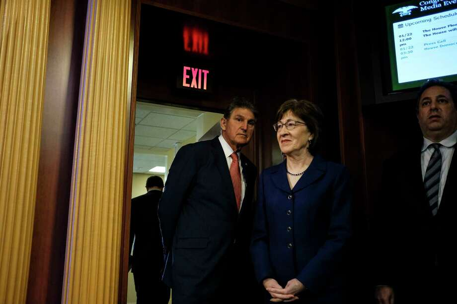 Sen. Susan Collins (R-Maine), center, was among a bipartisan group of senators requesting a report on the role of assisted living in Medicaid. The report is to be issued Sunday.  Photo: GABRIELLA DEMCZUK, STR / NYTNS