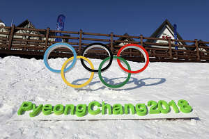 PYEONGCHANG-GUN, SOUTH KOREA - FEBRUARY 4:  The Olympic rings is seen in Hoenggye town, near the venue for the Opening and Closing ceremony ahead of PyeongChang 2018 Winter Olympic Games on February 4, 2017 in Pyeongchang-gun, South Korea.  (Photo by Chung Sung-Jun/Getty Images)