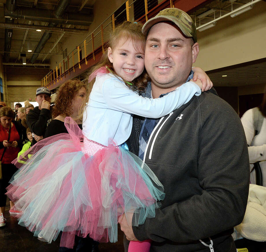 Maddison and A.J. Matthews were at the Garden Bros. Circus performance at Ford Park Saturday. Clowns, acrobats, daredevil motorcyclists and more entertained children and parents. Elephant rides and face painting activities were available before the show and during intermission. Photo taken Saturday, February 3, 2018 Kim Brent/The Enterprise Photo: Kim Brent / BEN