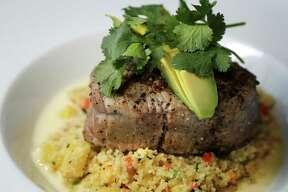 Oak-grilled tuna at Silo Terrace Oyster Bar.