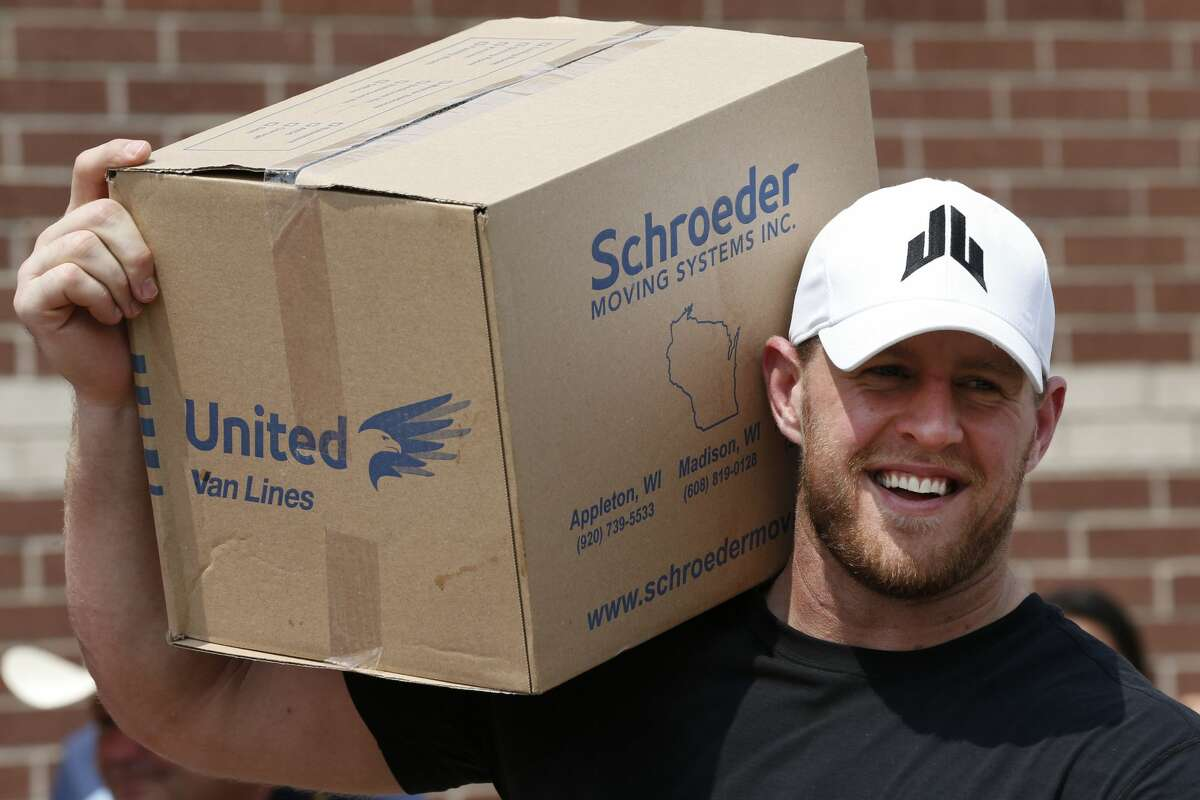 PHOTOS: Celebrities who supported #HoustonStrong after Hurricane Harvey Houston Texans defensive end J.J. Watt holds a box of relief supplies on his shoulder while handing them out to people impacted by Hurricane Harvey on Sunday, Sept. 3, 2017, in Houston. ( Brett Coomer / Houston Chronicle, POOL ) Browse through the photos above for a look at celebrities who showe love for Houston after Hurricane Harvey.