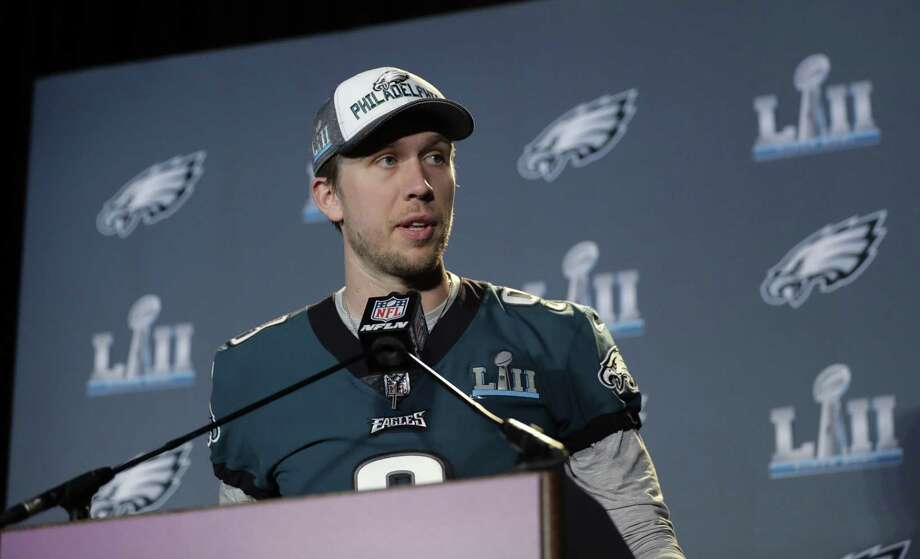 Quarterback Nick Foles and the Eagles will look to upset the Patriots in today's Super Bowl. Photo: Eric Gay / Associated Press / Copyright 2018 The Associated Press. All rights reserved.