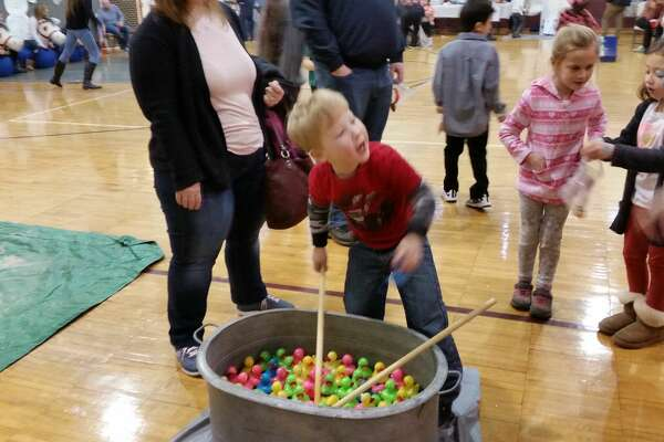 12th annual Winter Wonderland indoor fair at St. Peter/St. Francis School in Torrington Saturday, Feb. 3, 2018. The event included a chili contest, cotton candy and snow-cone machines, a local DJ, raffle, face-painting and stuffed-horse racing.