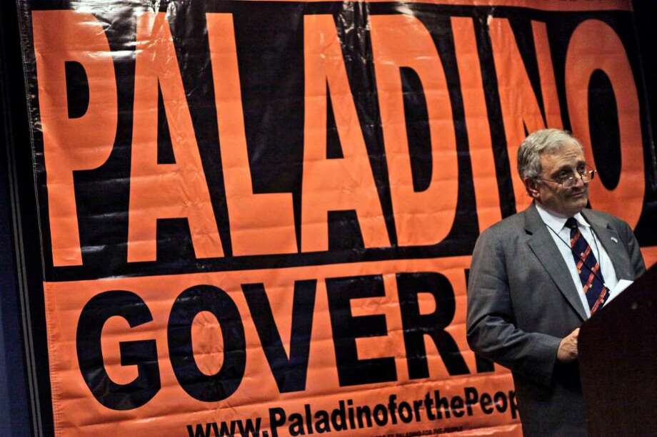 Buffalo real estate developer Carl Paladino reveals plans Thursday at the Republican state convention in New York City to begin efforts to obtain a primary ballot line against Rick Lazio, the Republican nominee for governor. ( Mary Altaffer/Associated Press) Photo: Mary Altaffer / AP