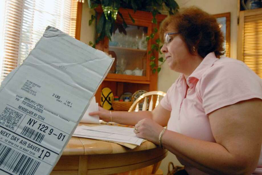 Michelle Belschwinder of East Greenbush has trouble getting her mail order purchases sent to the right address. (Michael P. Farrell / Times Union ) Photo: MICHAEL P. FARRELL / 00005433A