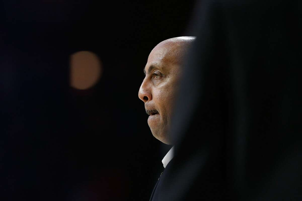 TUCSON, AZ - JANUARY 27: Assistant coach Lorenzo Romar of the Arizona Wildcats watches the action during the first half of the college basketball game against the Utah Utes at McKale Center on January 27, 2018 in Tucson, Arizona. The Wildcats beat the Utes 74-73. (Photo by Chris Coduto/Getty Images)