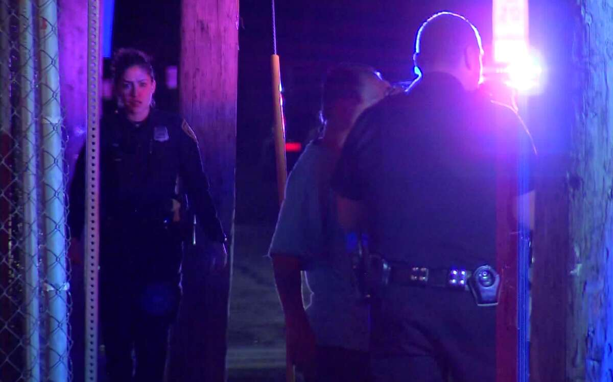 San Antonio police respond to a shooting on the West Side Saturday night, Feb. 2, 2018, that resulted in an hours-long standoff. Two people were injured in the shooting.