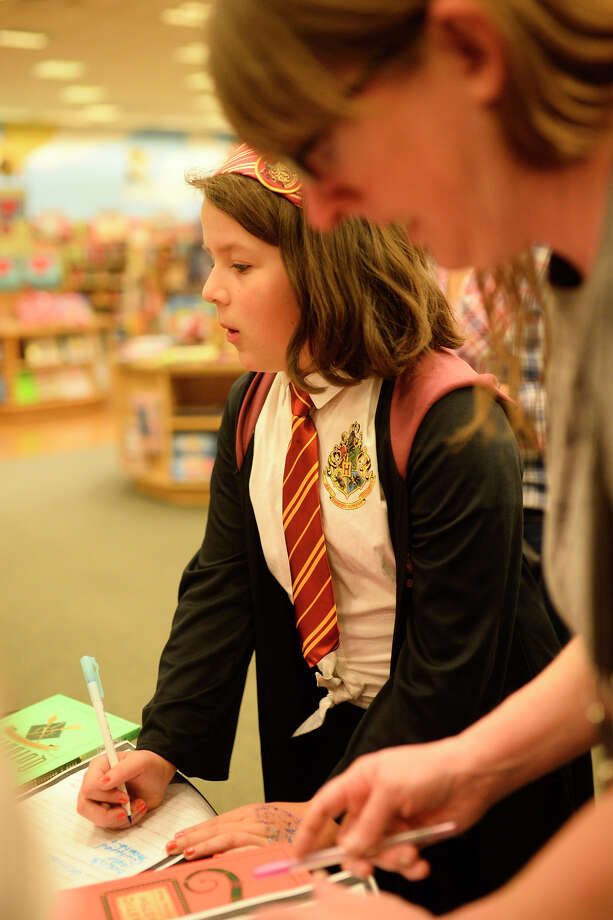 Evie Fall participates in a trivia game during Harry Potter Book Night at Barnes and Noble Feb. 3, 2018.  James Durbin/Reporter-Telegram Photo: James Durbin