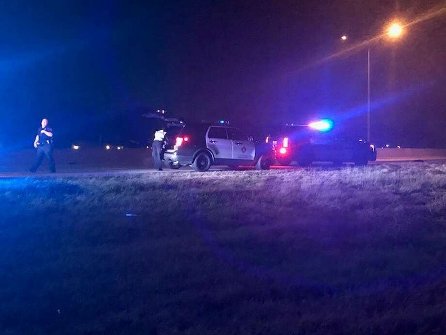 A man was critically injured while attempting to run across Interstate 37 Saturday night, Feb. 3, 2018. Photo: Alex Luna