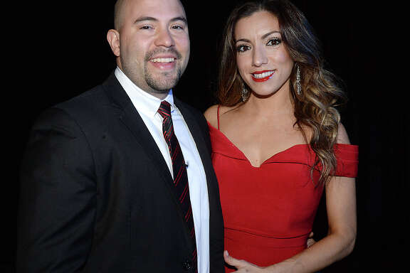 Cory and Brenda Villafano were at the Majestic Krewe of Aurora Ball at the Civic Center Saturday. This year's Krewe royalty were announced at the event. Photo taken Saturday, February 3, 2018 Kim Brent/The Enterprise
