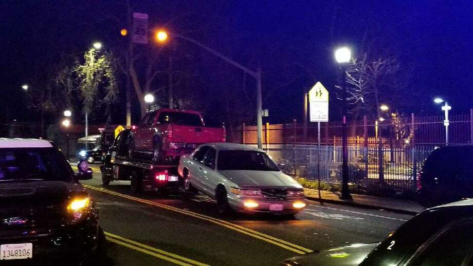 Drivers were cited and numerous vehicles towed early Sunday after officers broke up an illegal sideshow in Oakland, authorities said.