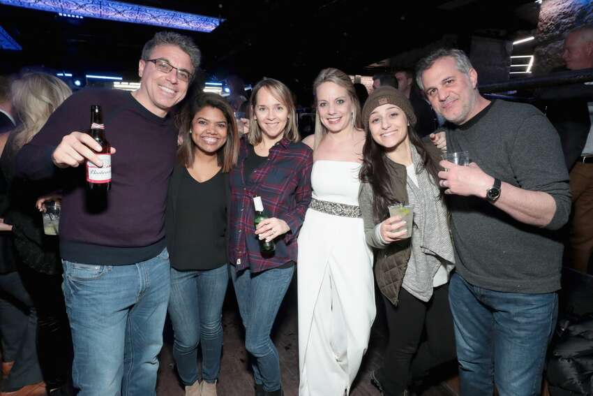 MINNEAPOLIS, MN - FEBRUARY 02: Guests attend the Thuzio & Rosenhaus Party during Super Bowl weekend at The Exchange & Alibi Lounge on February 2, 2018 in Minneapolis, Minnesota. (Photo by Cindy Ord/Getty Images for Thuzio)