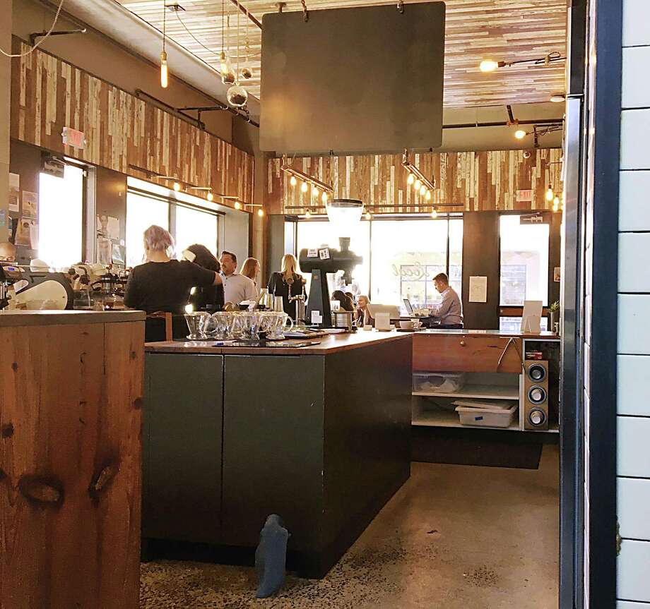 A view across the service counter of Local Coffee at The Pearl. Photo: Mike Sutter /San Antonio Express-News