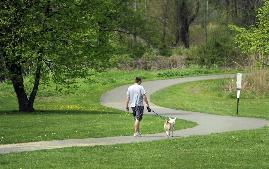 The walking path at Meckauer Park in Bethel, Conn.  is a popular feature. Photo taken Tuesday, May 13, 2014. Photo: Carol Kaliff / Carol Kaliff / The News-Times