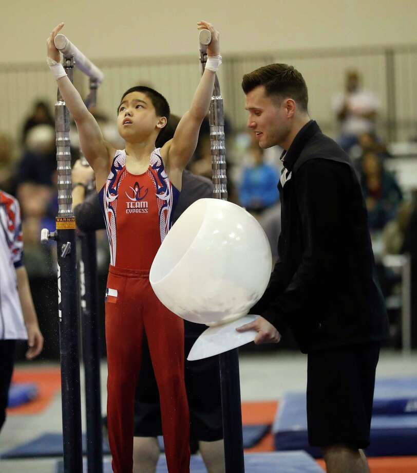 Asher Hong, of Cypress Academy of Gymnastics, won the junior men's all-around at USA Gymnastics' Winter Cup in Las Vegas. Photo: Karen Warren, Staff / © 2018 Houston Chronicle